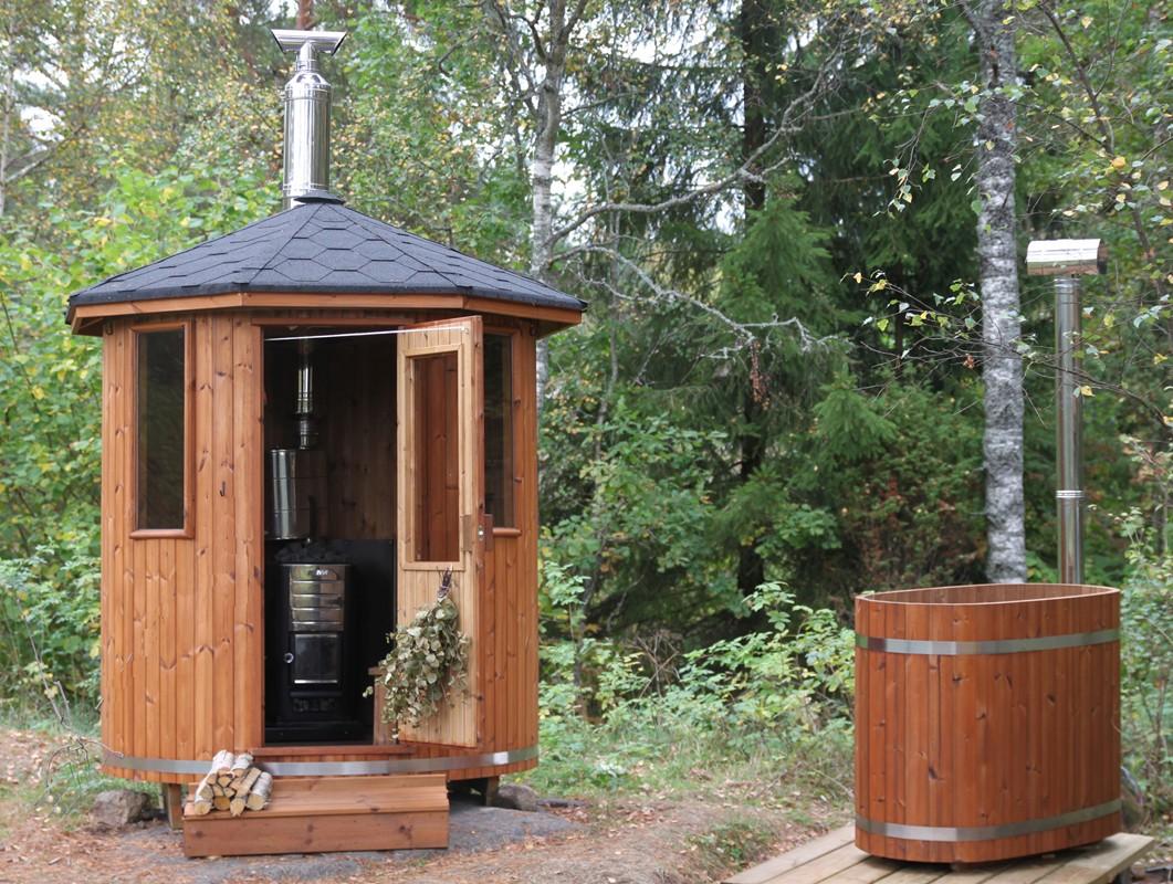 Wood Burning Hot Tub Heater Barrel Sauna Ø180 Cm W. Wood Heater - SpaDealers